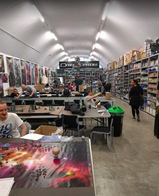 Dark Sphere game shop and nerd cavern in London. Where I ran a new players table.