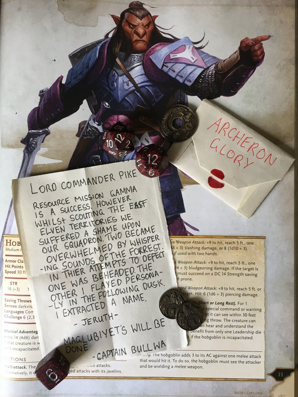 Poor Captain Bullwa. His squadron defeated, he fled into the night, only to be caught by a vicious mockery (Bard Spell) causing him to die of shame.