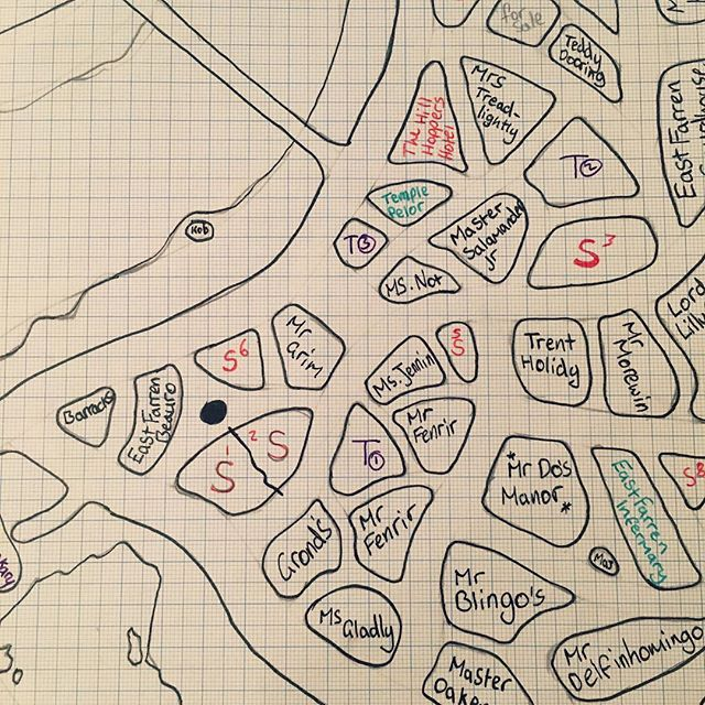After talking to the streetwise urchin of North Glendale you get a pretty good idea of the surrounding area... #dm #fantasymap #fateandfables #tabletop #dungeonsandragons