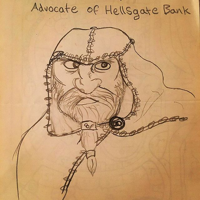 The Hellsgate Bank collects its debts... one way or another...#fateandfables #fantasyart #dwarves #npc #rpg #dnd #dungeonsandragons
