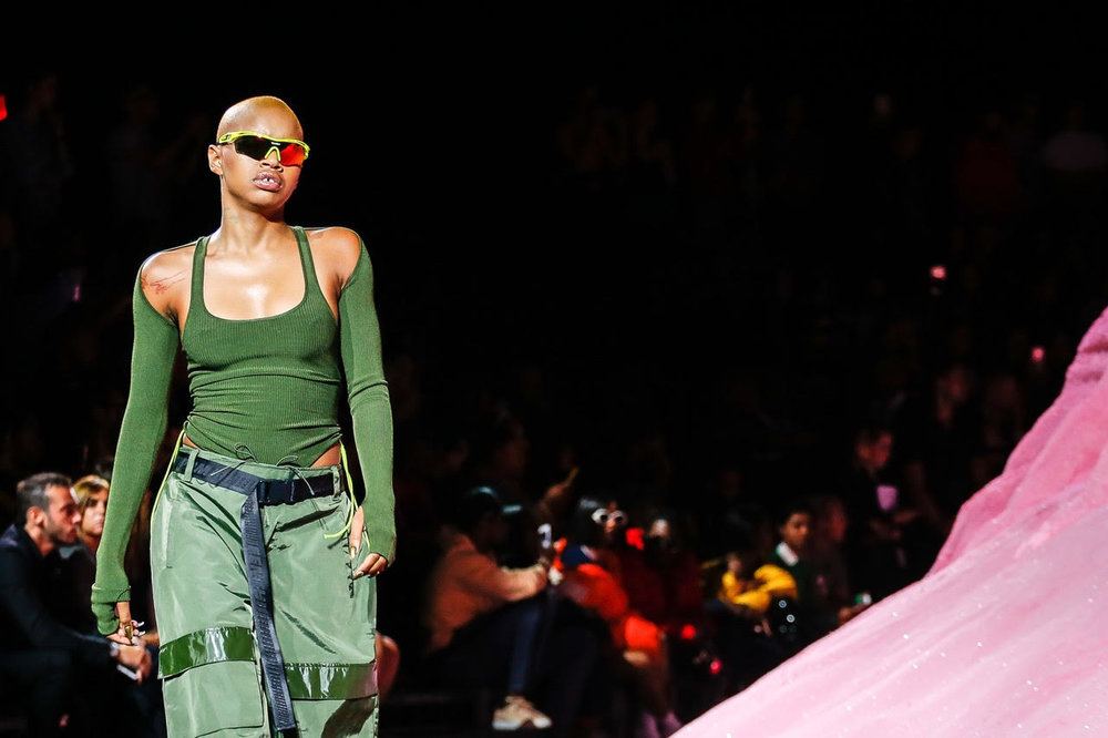 Slick Wood has made a name as Rhianna's muse, featuring in her Fenty Beauty campaigns and in the Fenty x Puma show for NYFW 18.