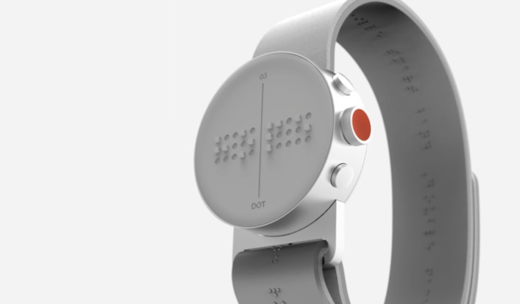DOT Smartwatch // DOT Inc Serviceplan Hamburg & Serviceplan South Korea   The Dot braille smartwatch was created to help blind and visually impaired people connect with modern society. It's the world's very first, mass-producible, micro-braille actuator. Wearers can receive text messages, navigation, reminders, and even browse the web.