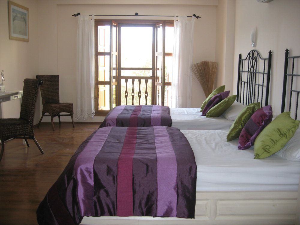 Purple Bedroom Double Bed Poppy Villa Kalkan.JPG