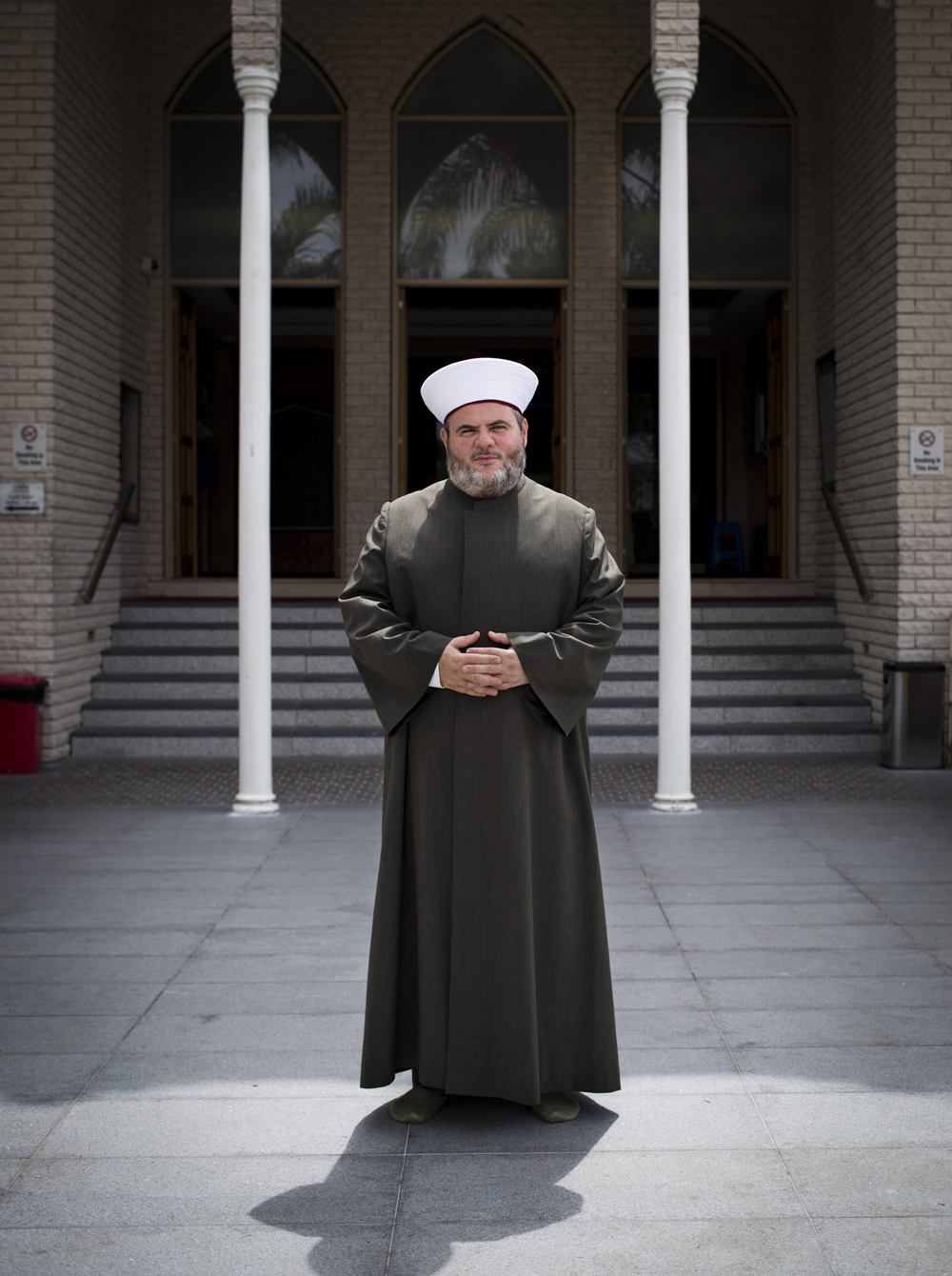 Sheikh Yahya Safi outside the Lakemba Mosque in Sydney.