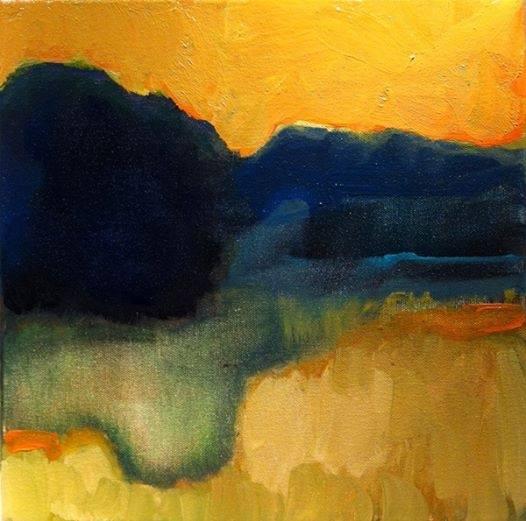 """Easter Sky"", acrylic, by Pauline Agnew"