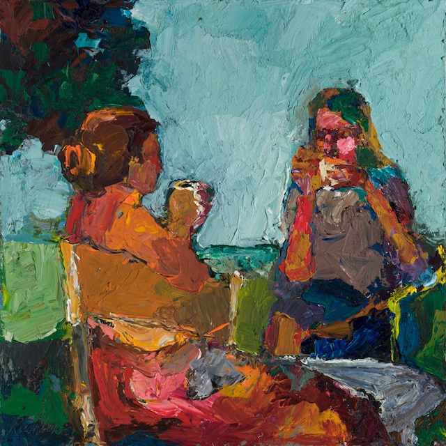 """Tea"", 18″x18″, Oil, by William Rushton"