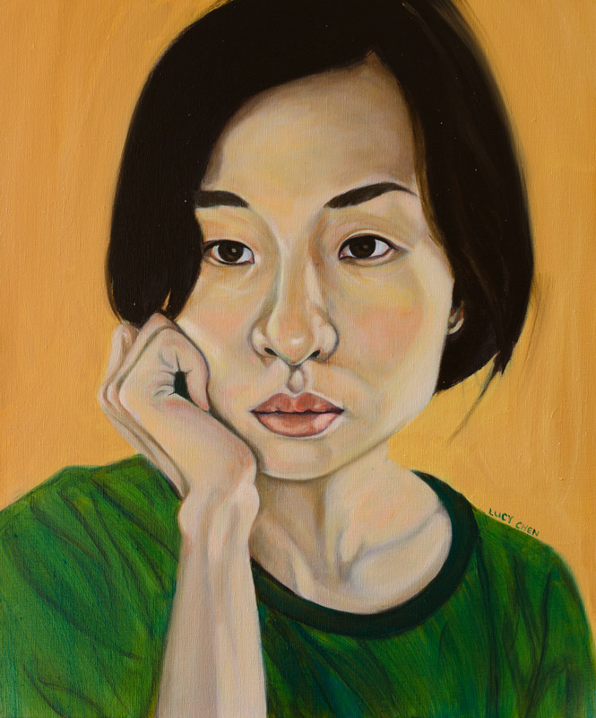"MY DREAM'S BEGINNING, 24""x20"", oil on stretched canvas, by Lucy Chen"