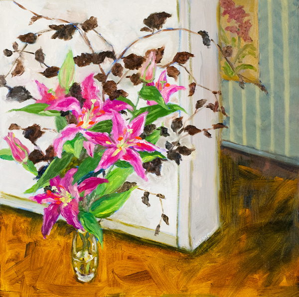 JUST AROUND THE COLOR FLOWERS, oil on canvas, by Lucy Chen
