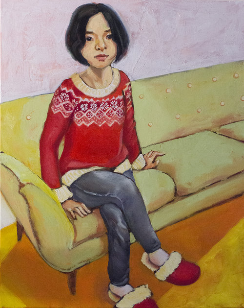 FAVOURITE PLACE 30x24 Oil On Stretched Canvas By Lucy Chen