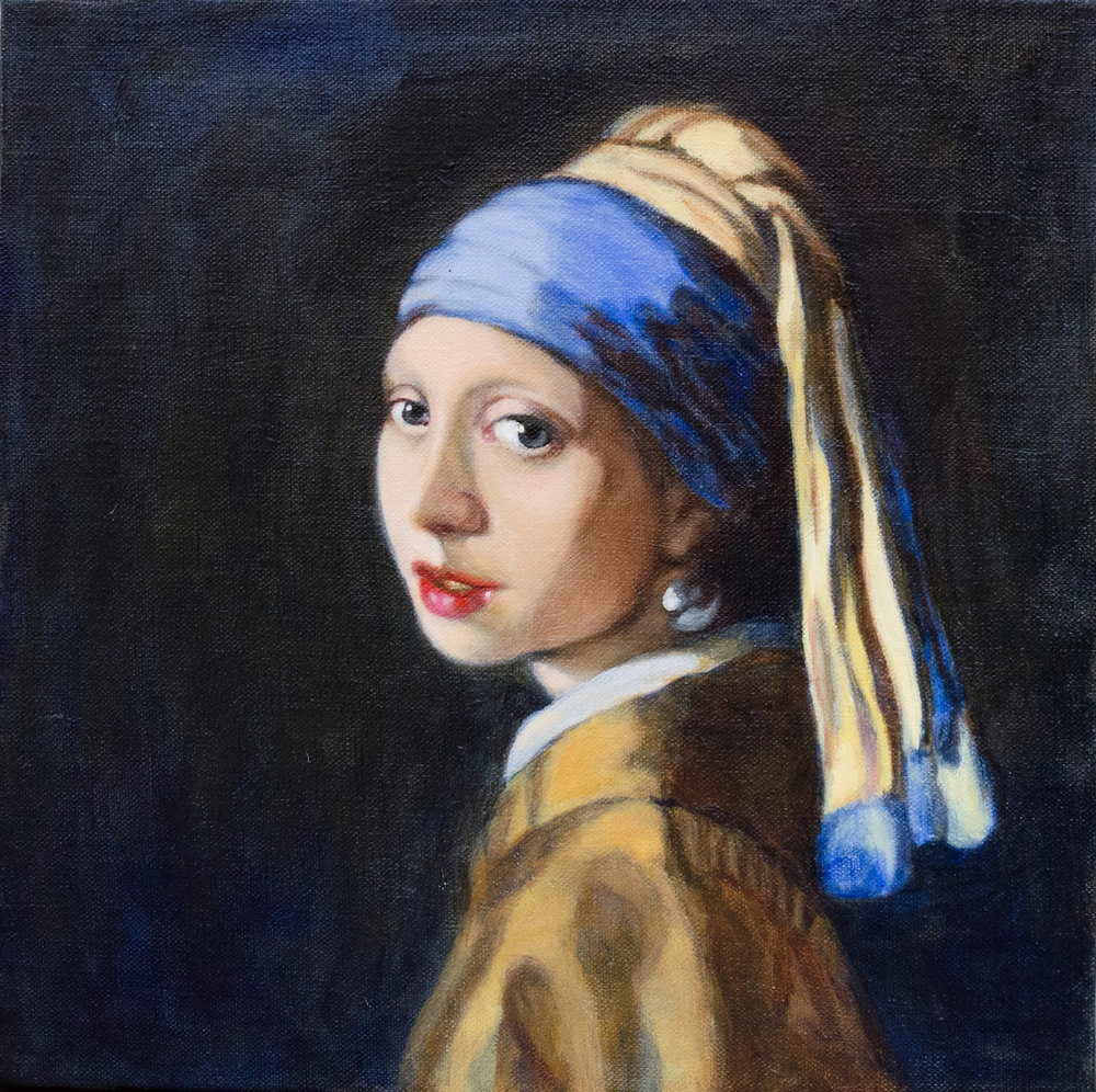 """Study of """"Girl with a Pearl Earring"""", by Lucy Chen"""