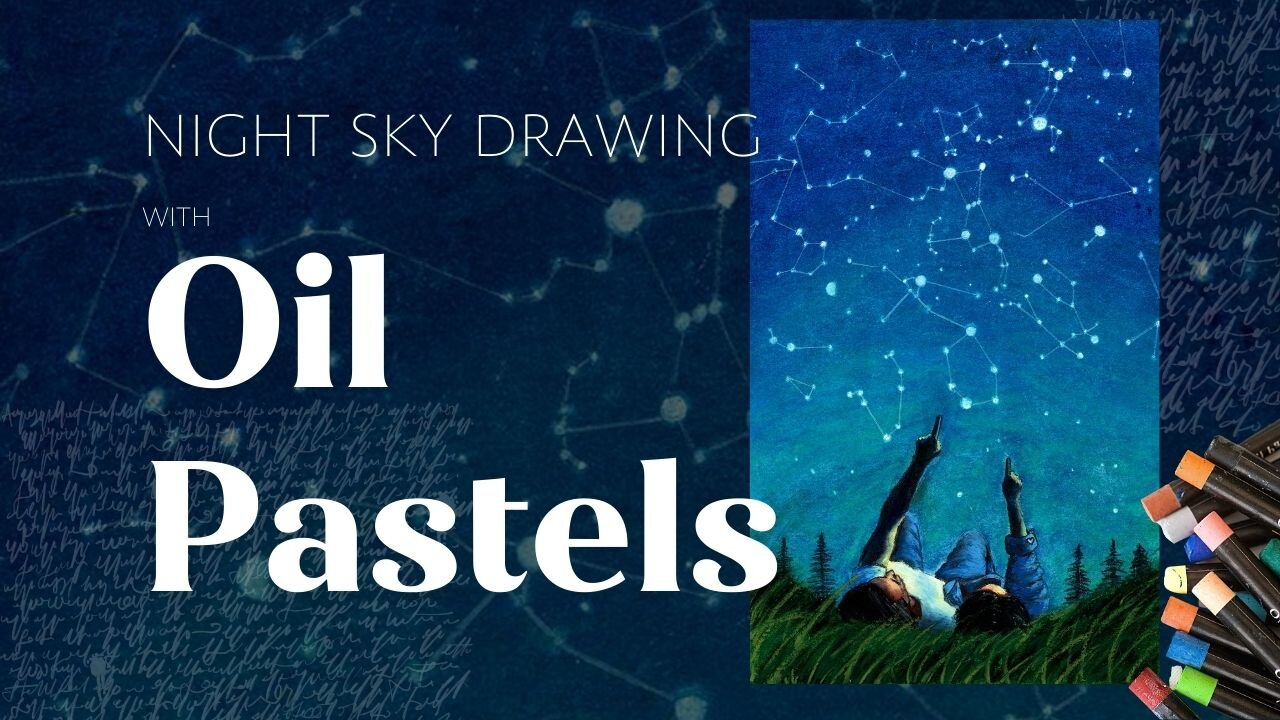 Night Sky Drawing With Oil Pastels Lucy Morningstar Art