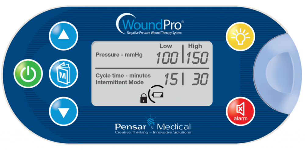 Image of the Wound Pro® control panel with buttons