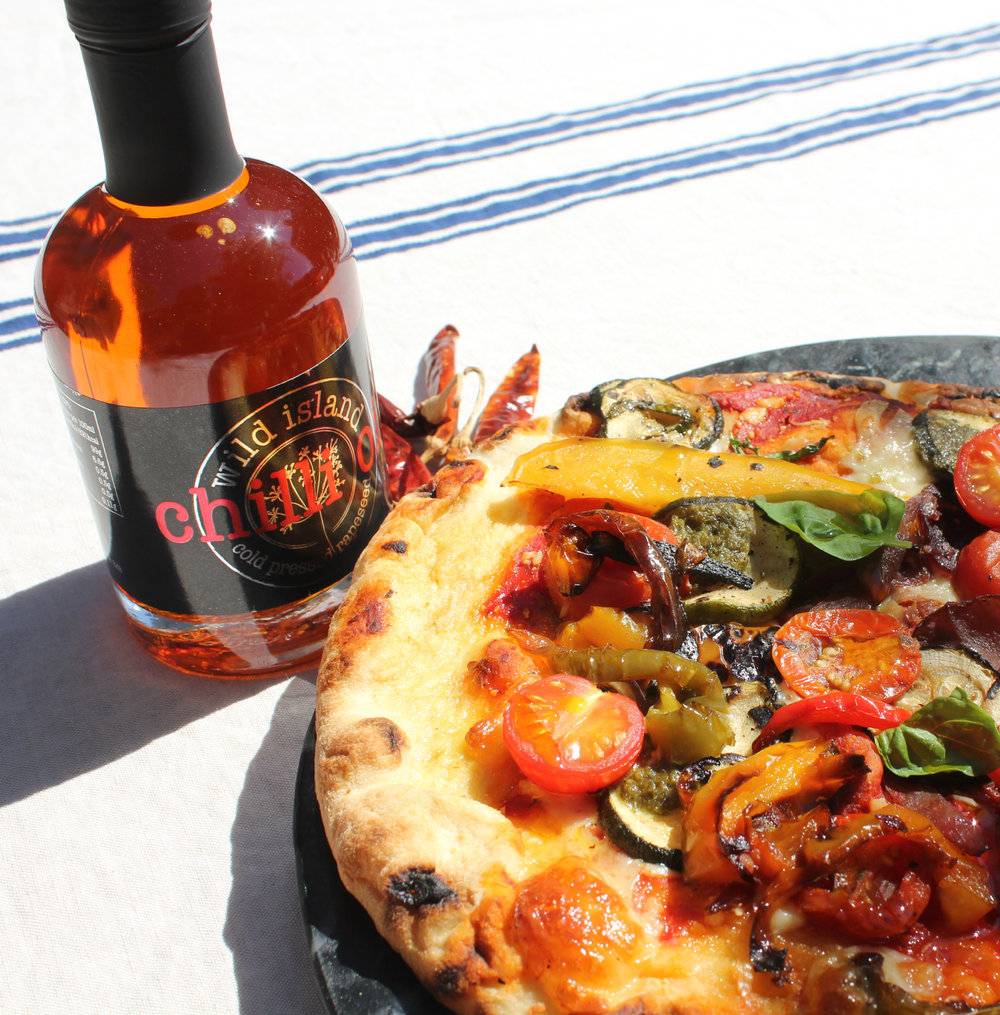 Pizza with Chilli Infused Oil