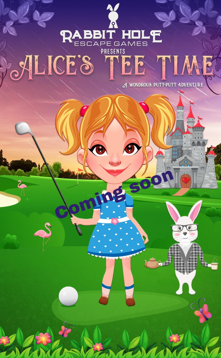 New adventure soon! - Escape Room elements + Mini-Golf in an Alice theme