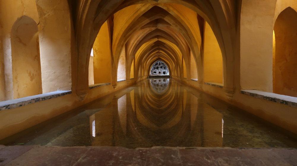 Keeping your mind clean. Photo taken inside Alcázar of Seville, Spain.