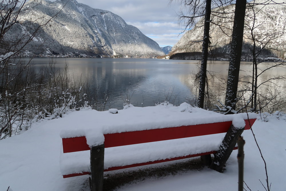 It's your life - take a seat at the table. Picture taken in Hallstatt, Austria.