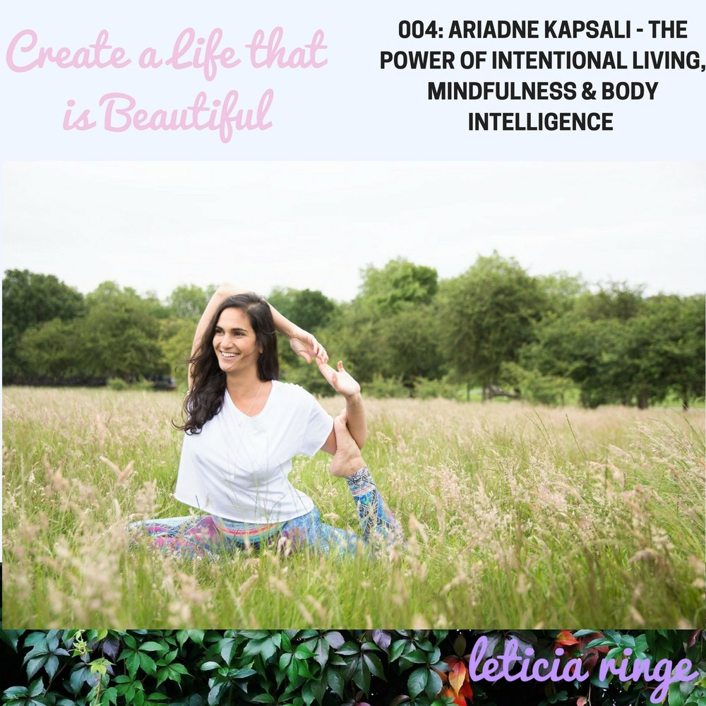 Ariadne Kapsali: Beautiful You Life Coach, Yoga & Meditation Teacher.