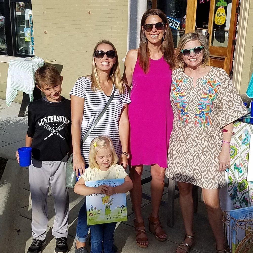 At a Nunny Bunny book signing at the Corner Market in Guntersville, Ala.