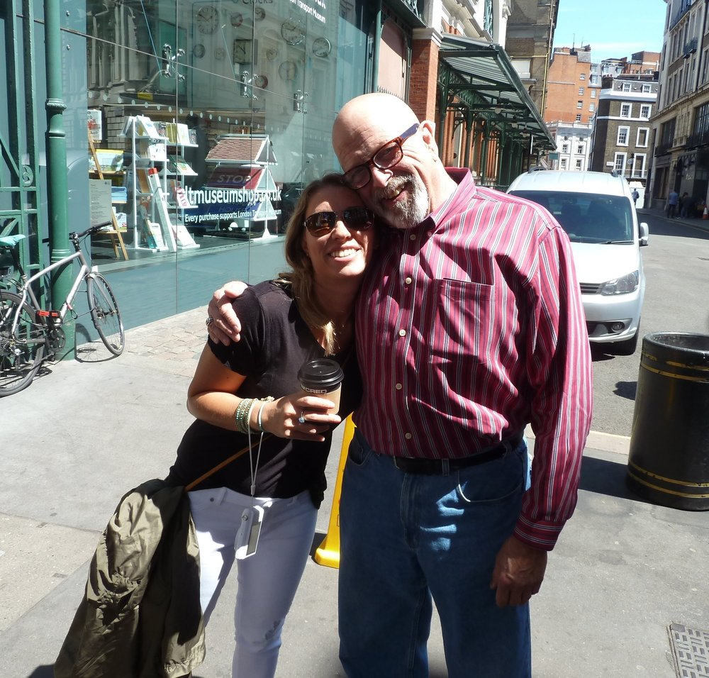 Ran into Dan on the back streets of London