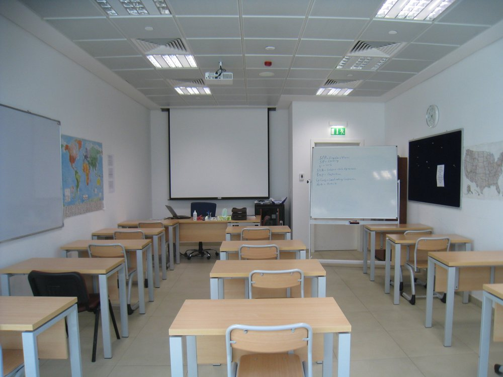 The classroom that I was assigned in the Middle East