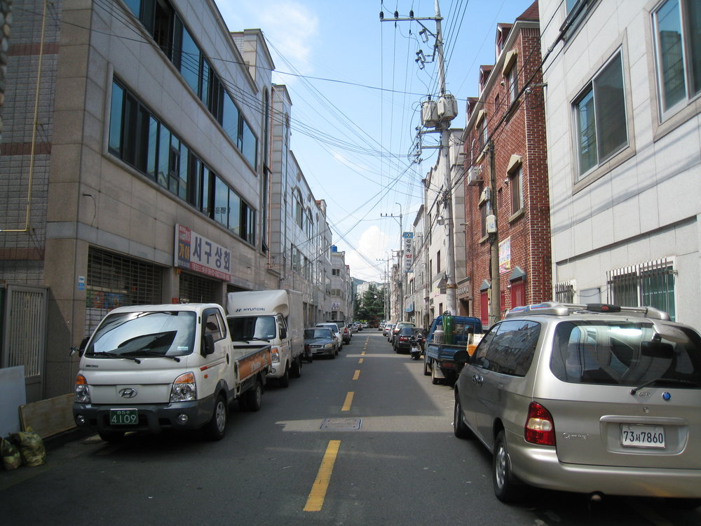 The street I lived on for two years while in South Korea