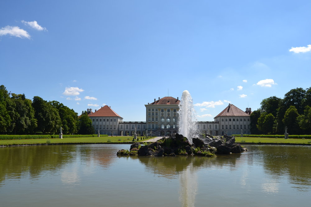 View of Nymphenburg Palace with the Fountain