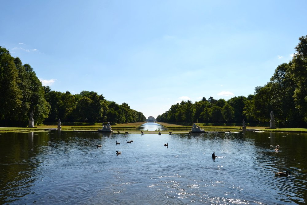 Looking toward Nymphenburg Palace from the Great Cascade