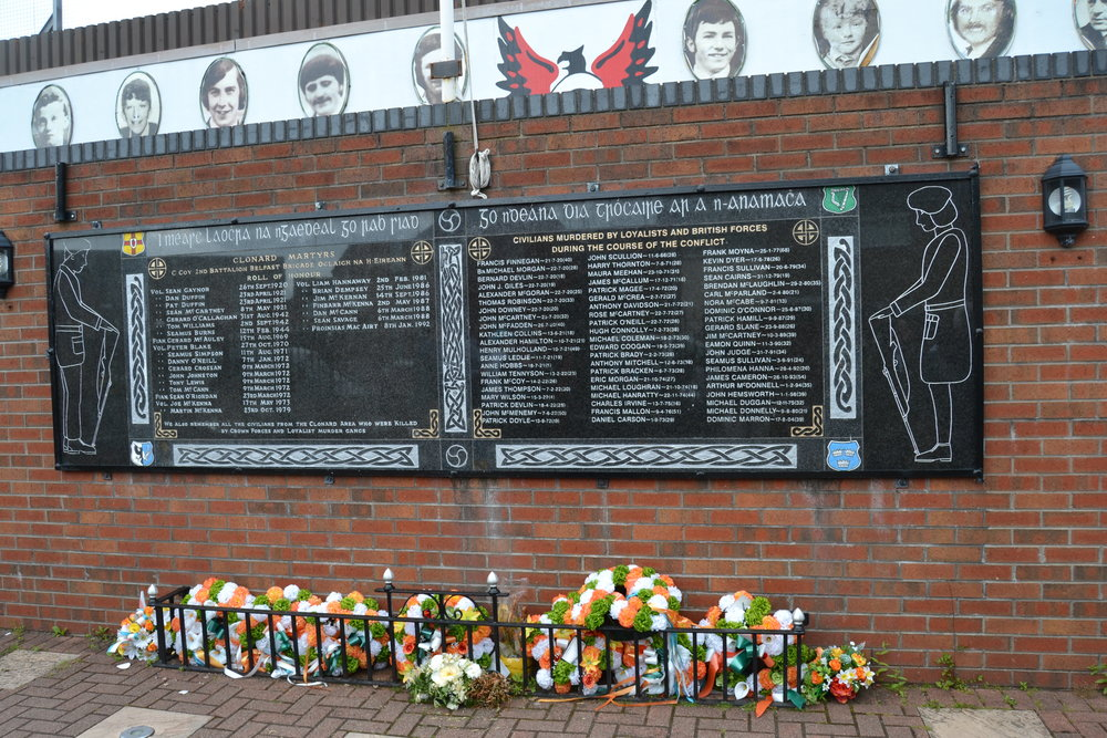 A Catholic memorial dedicated to civilians and IRA volunteers who were killed by Loyalists
