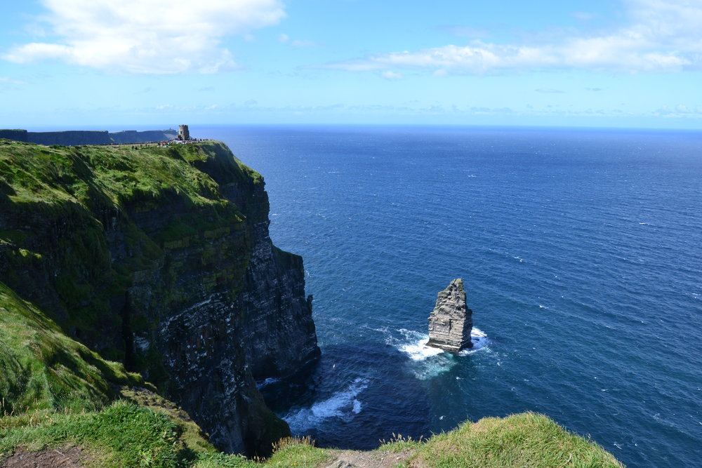 View of O'Brien's Tower at the Cliffs of Moher in western Ireland