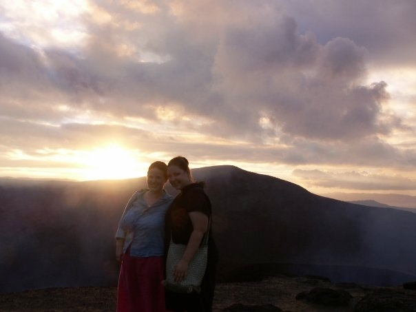 Katy and friend at Mount Yasur (Photo Credit: Katy McGarr)