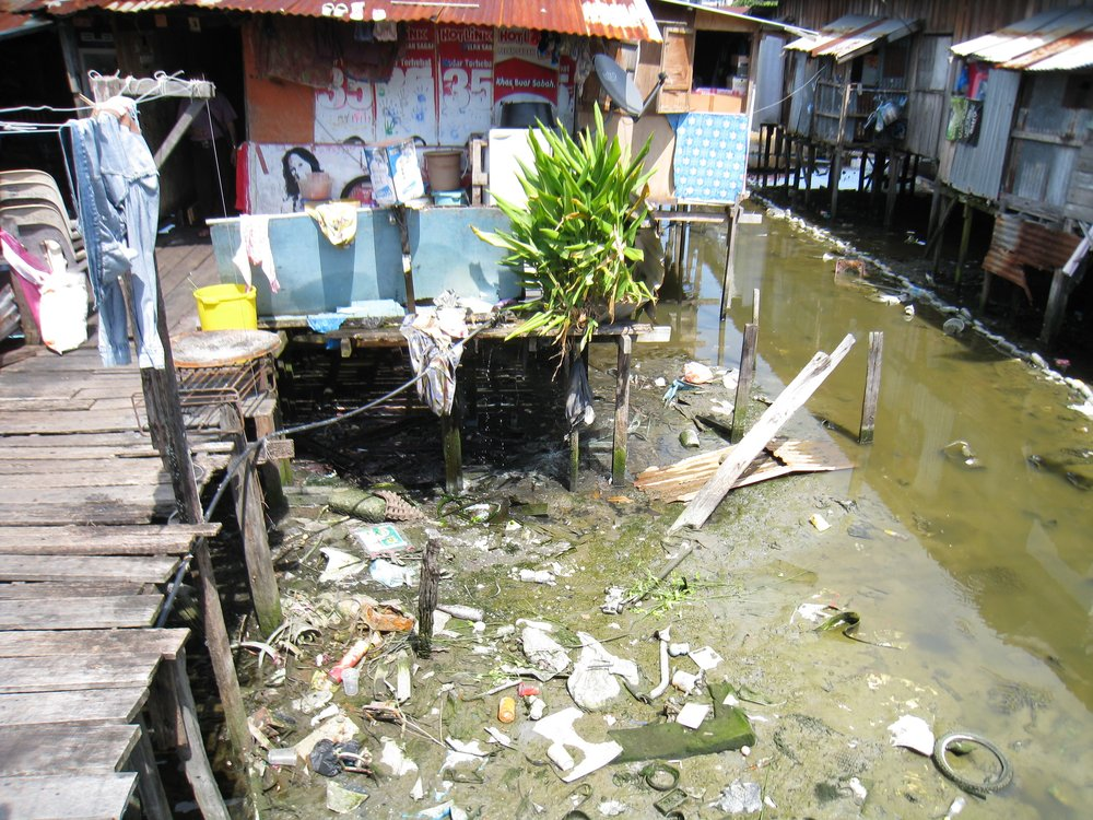 This is the poverty I saw when I visited the slums of Kota Kinabalu, Malaysia.