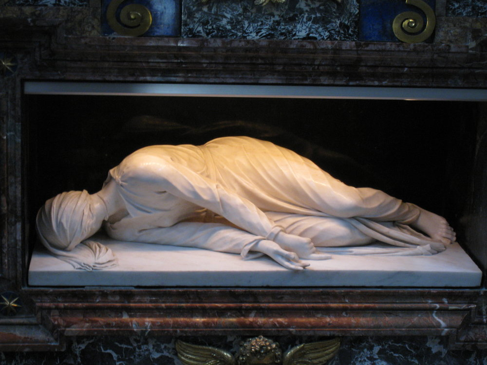 The sculpture of St. Cecilia by Stefano Maderno in S. Cecilia in Trastevere