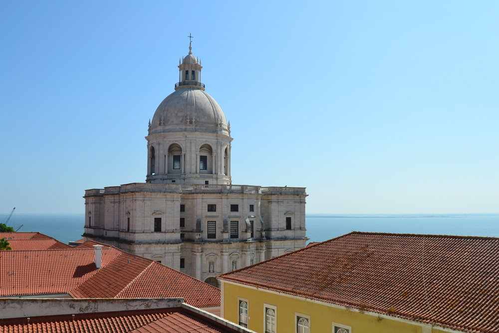 View of the National Pantheon in Alfama from a couple streets away