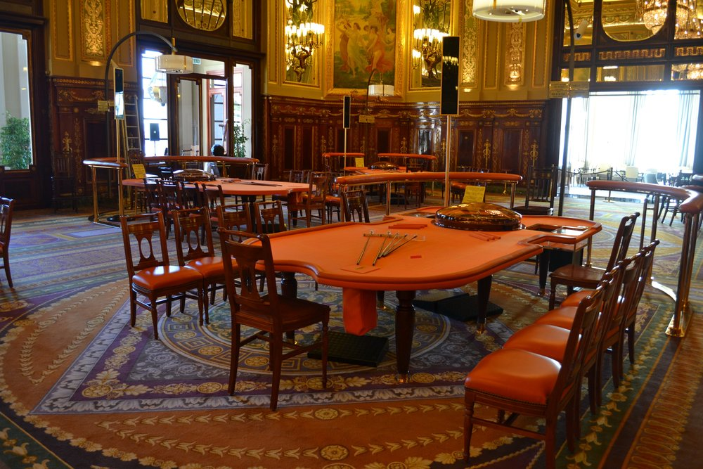 One of the gaming rooms in the Monte Carlo Casino
