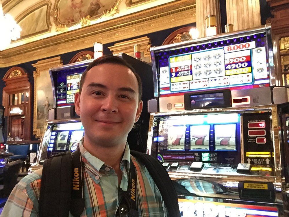 This is me right before losing about 50 euros in the Monte Carlo Casino