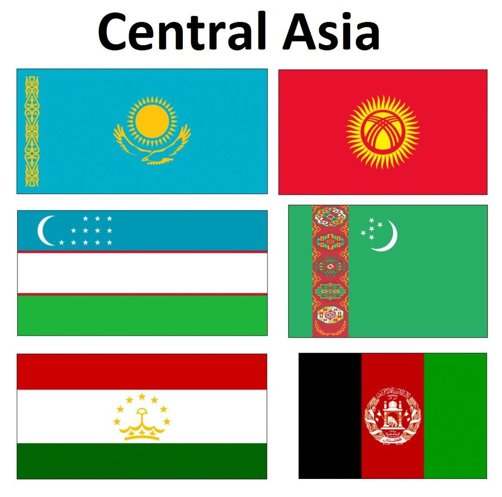 Flags of Central Asia