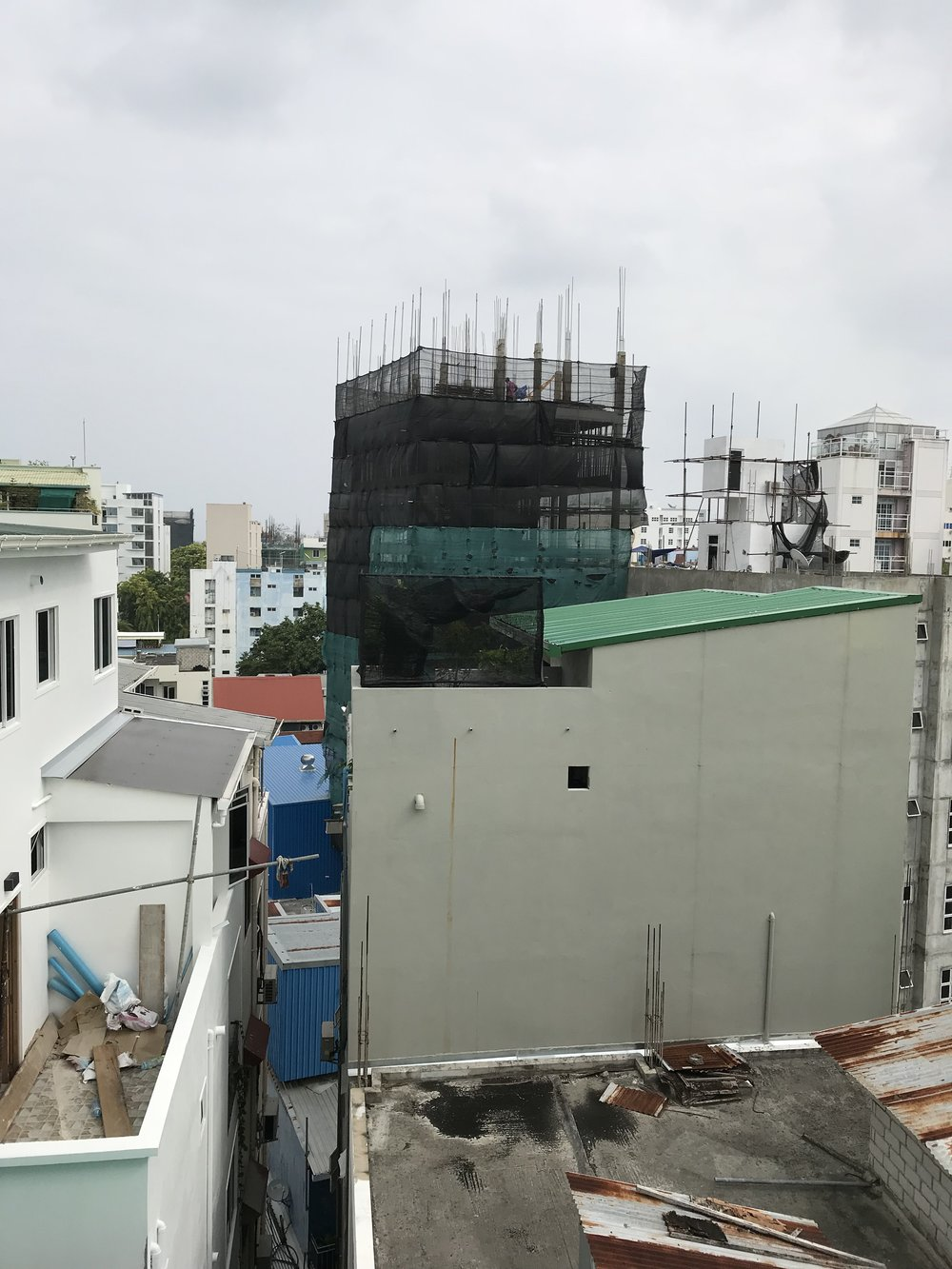 VIew of Malé from my hotel room