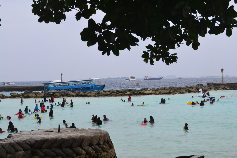 Locals at Villimale Beach