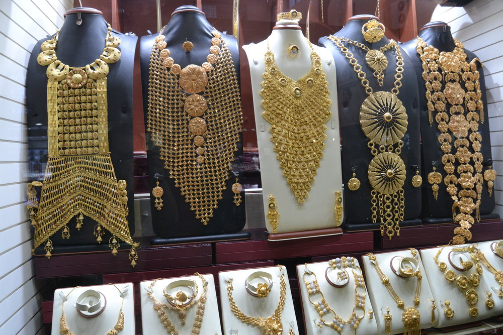 Gold accoutrement in Dubai's Gold Souk