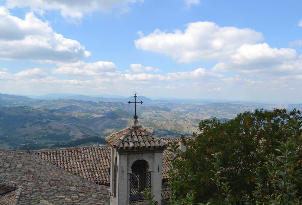 View from the University of San Marino