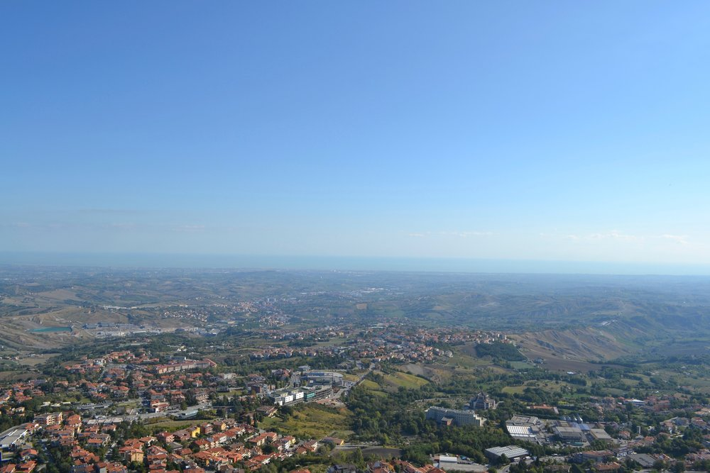 A View of the Adriatic Sea in the Distance