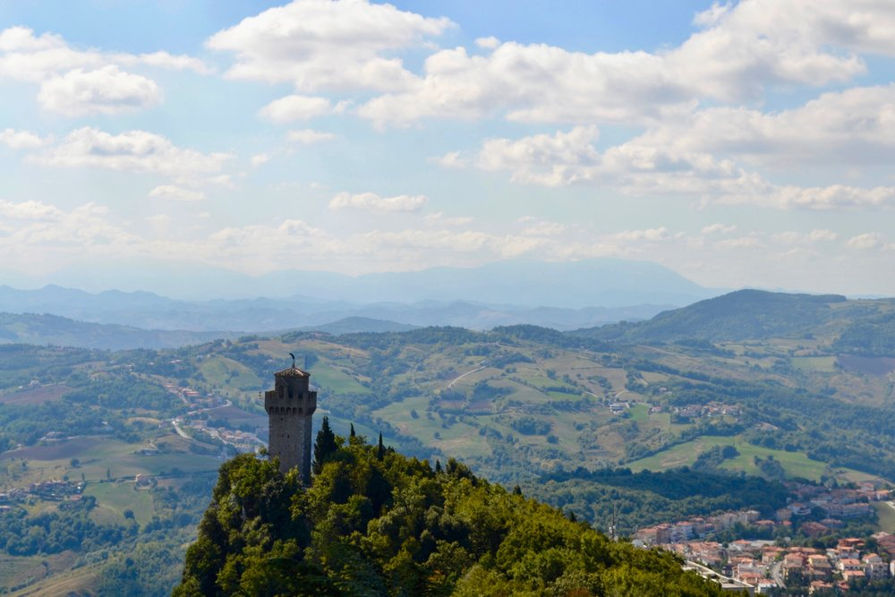 Montale Tower, which is the third of the three towers of San Marino