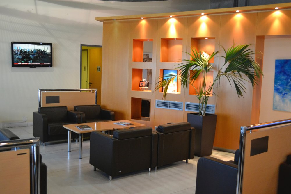 The Aristotle Onassis Lounge in Athens International Airport