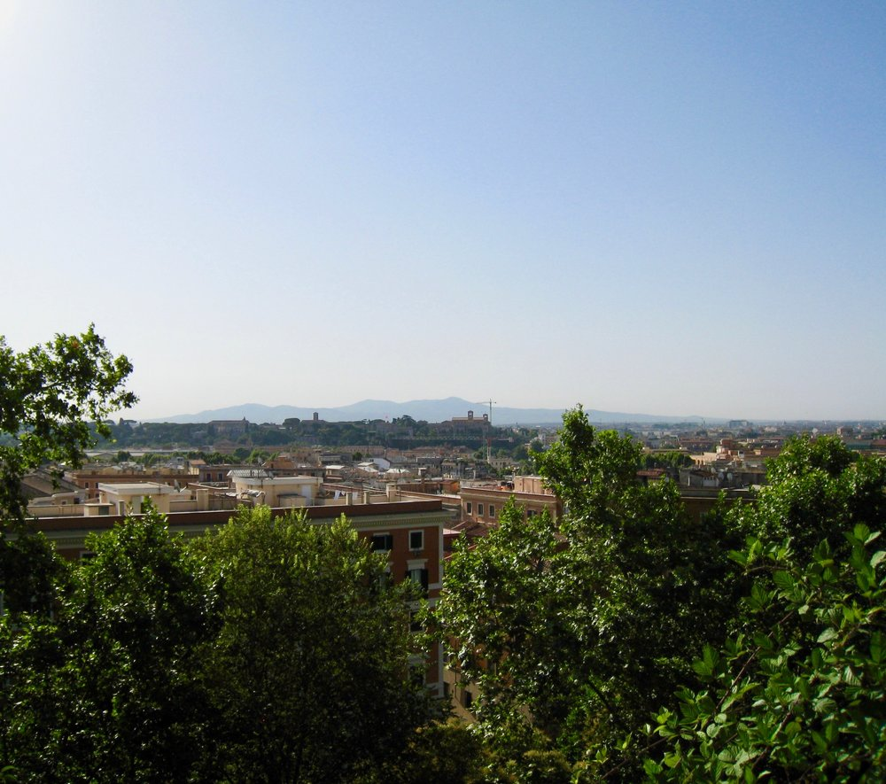 View from the Janiculum Hill in Rome