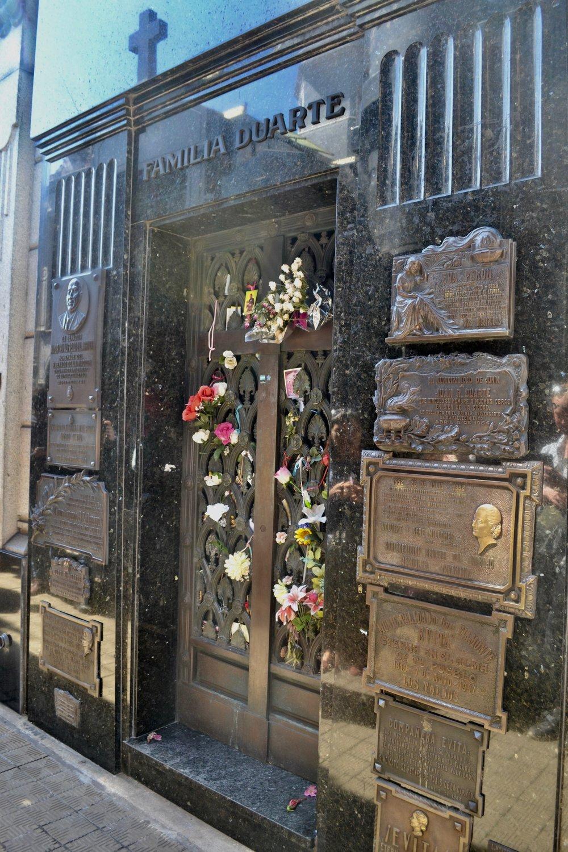 The tomb of Eva Peron