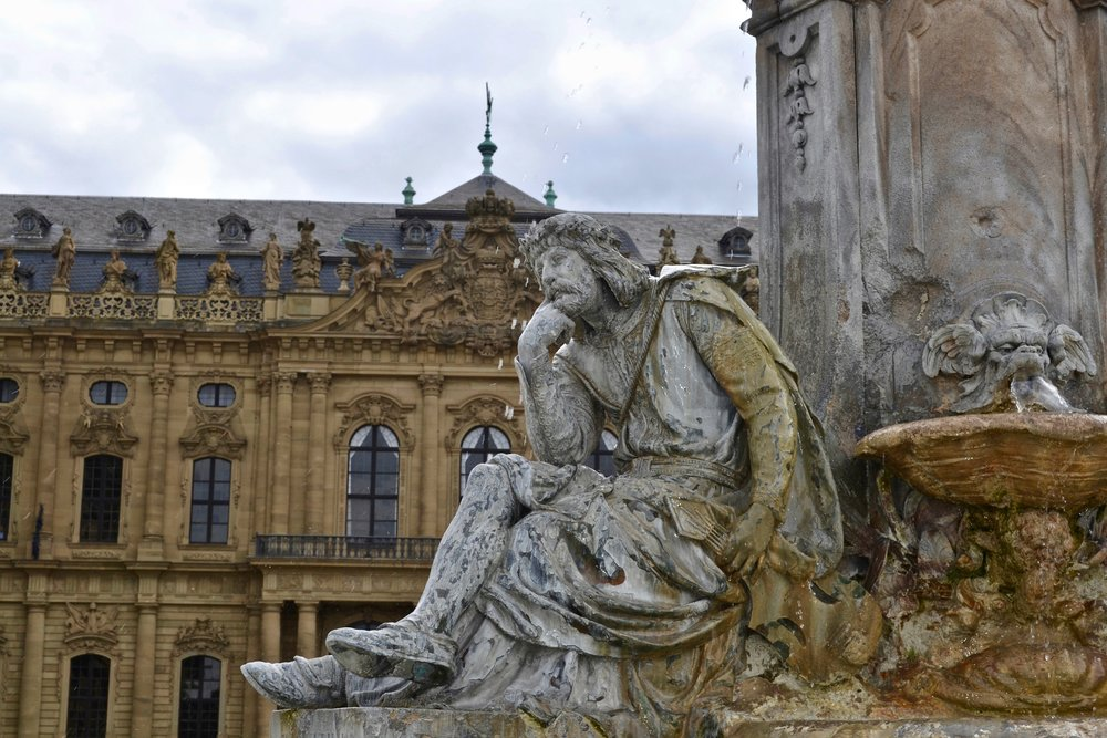 Würzburg Residence Fountain Sculpture