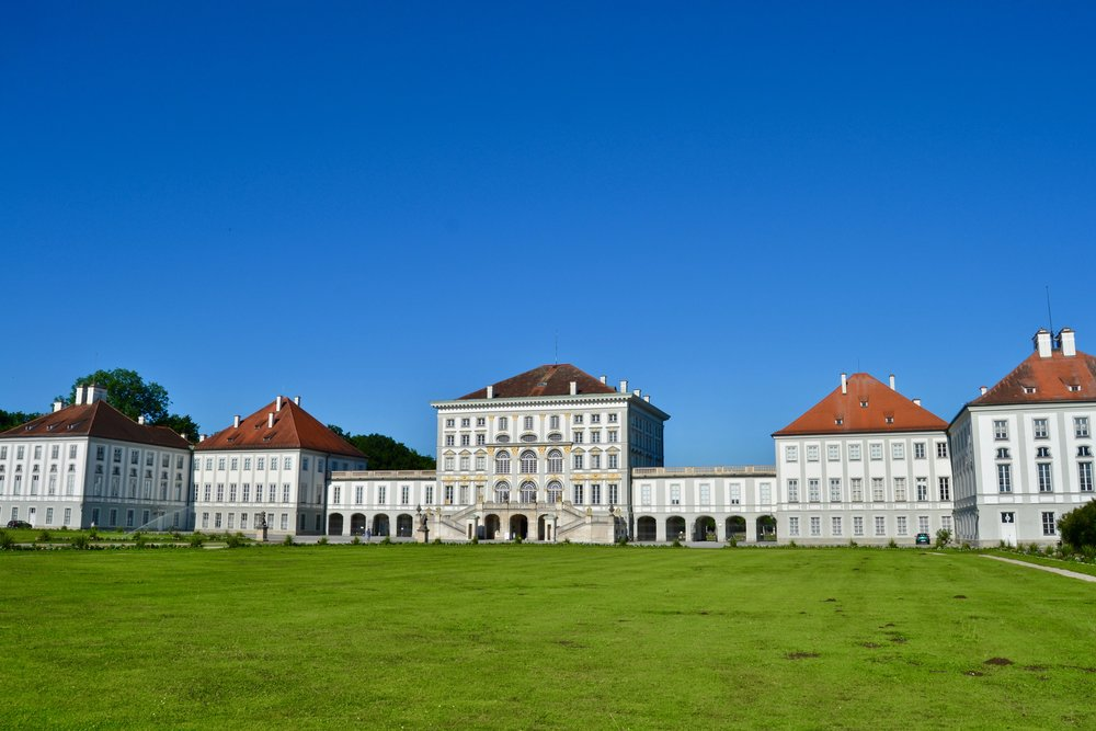 The exterior of Nymphenburg Palace