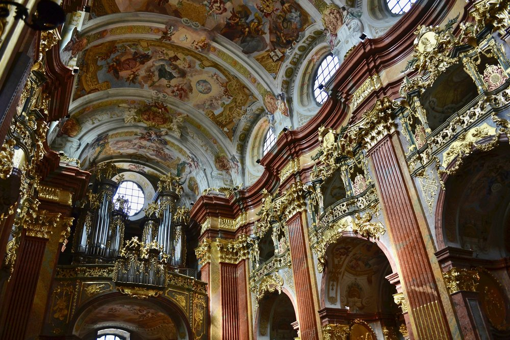 View of Melk Abbey Organ