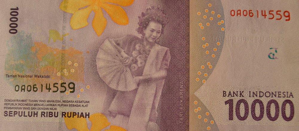 10000 Indonesian Rupiah banknote