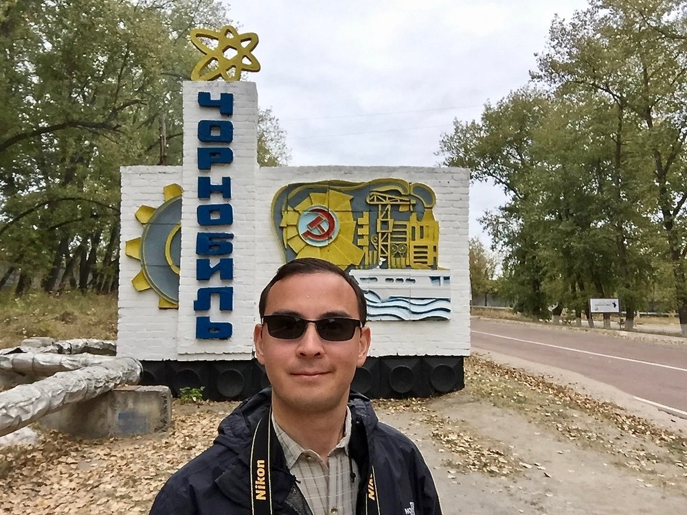 The author at Chernobyl in Ukraine